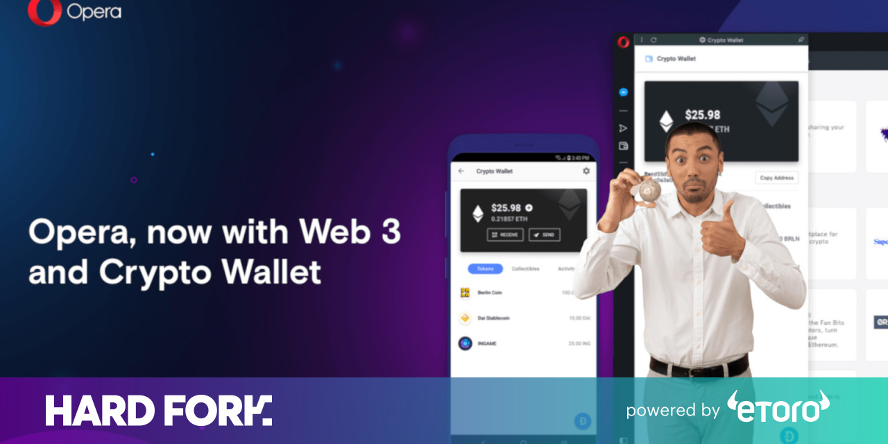 Opera releases its browser with built-in cryptocurrency wallet to everyone