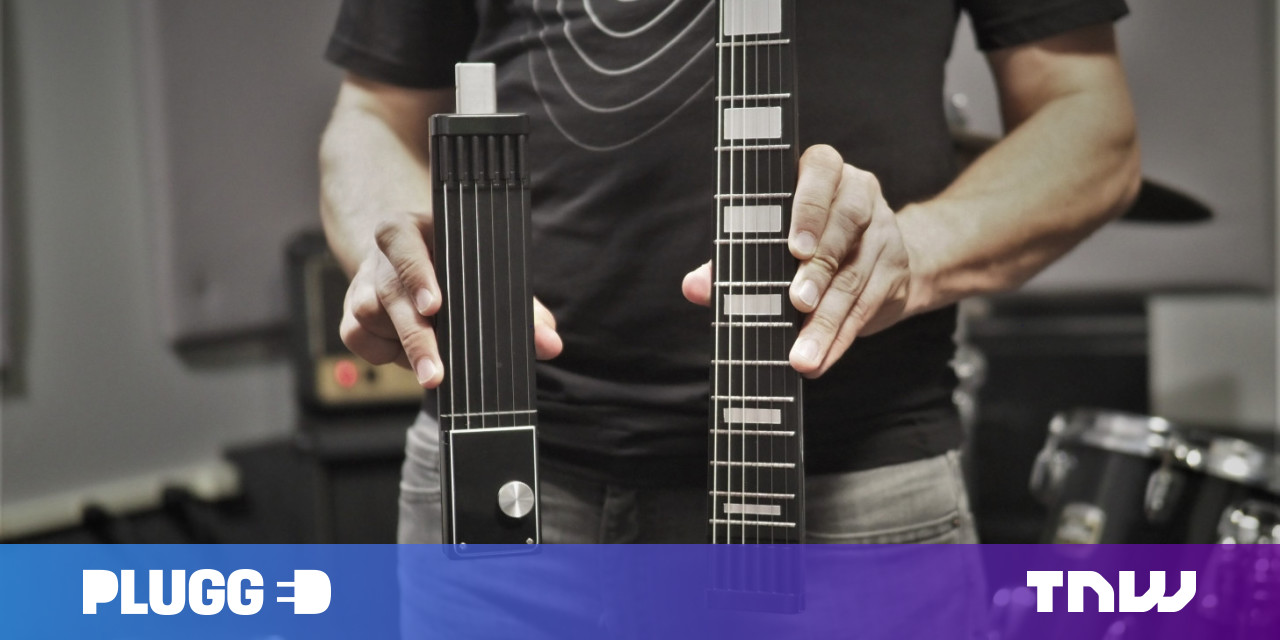 Jammy's Electric Guitar Splits up for Travel and Never Needs Tuning