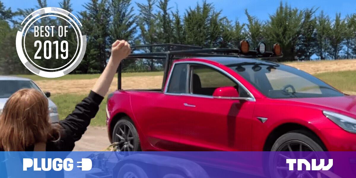 [Best of 2019] Genius inventor turns her Tesla Model 3 into a pickup truck