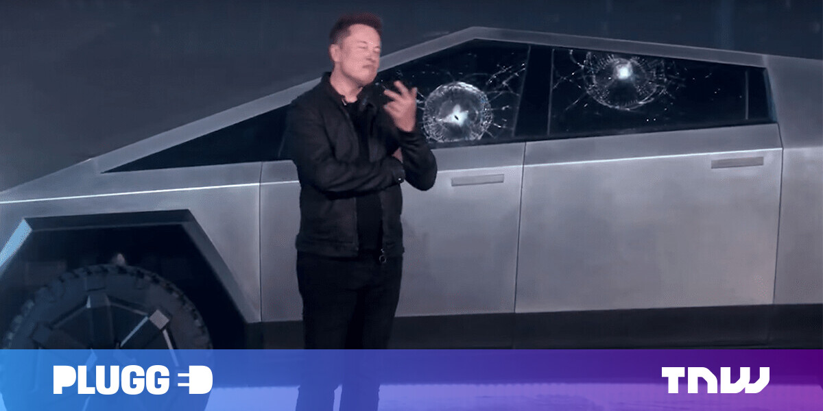 Watch the Tesla Cybertruck's unbreakable glass, uh, break