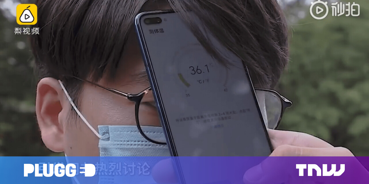 Image of article 'Huawei's new phone can take your temperature because coronavirus'