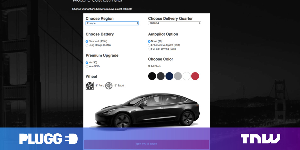 Tesla calculator estimates how much it actually costs to ...
