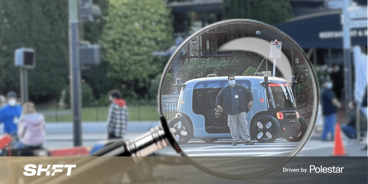 Amazon's self-driving Zoox vehicle spotted ahead of next week's reveal