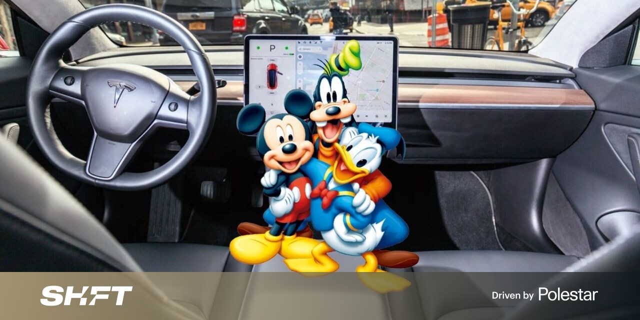 Tesla's new update includes Disney+ and I AM SWEATING WITH JOY