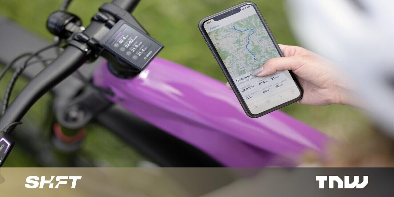 Bosch <b>ebike</b> personalization by app and OTA updates - TheNextWeb thumbnail