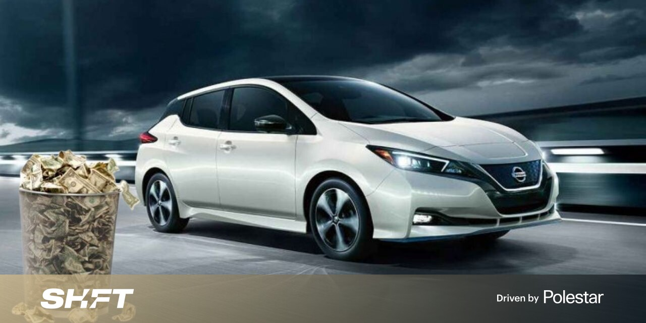 #The new Nissan Leaf's smaller price tag makes it the cheapest EV in the US