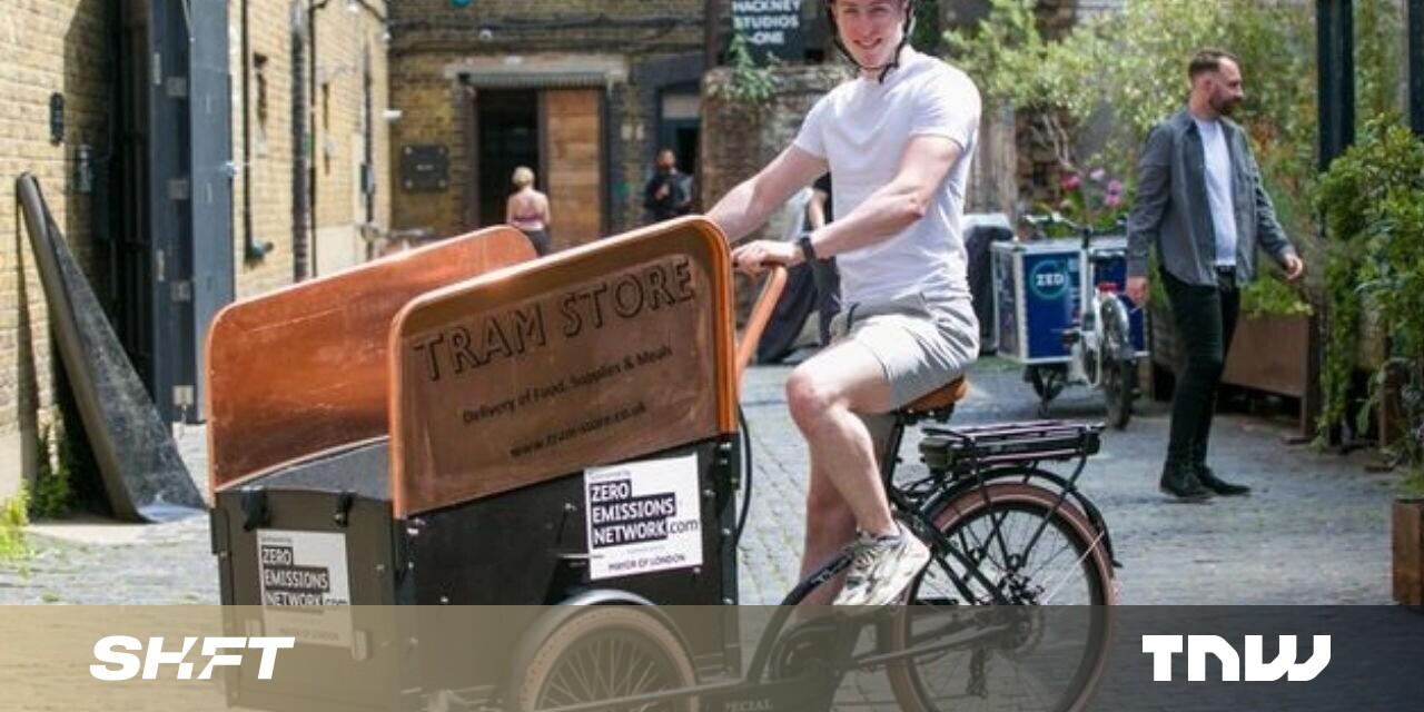 Chương trình xe đạp chở hàng điện tử được chia sẻ đầu tiên của Vương quốc Anh ra mắt tại London