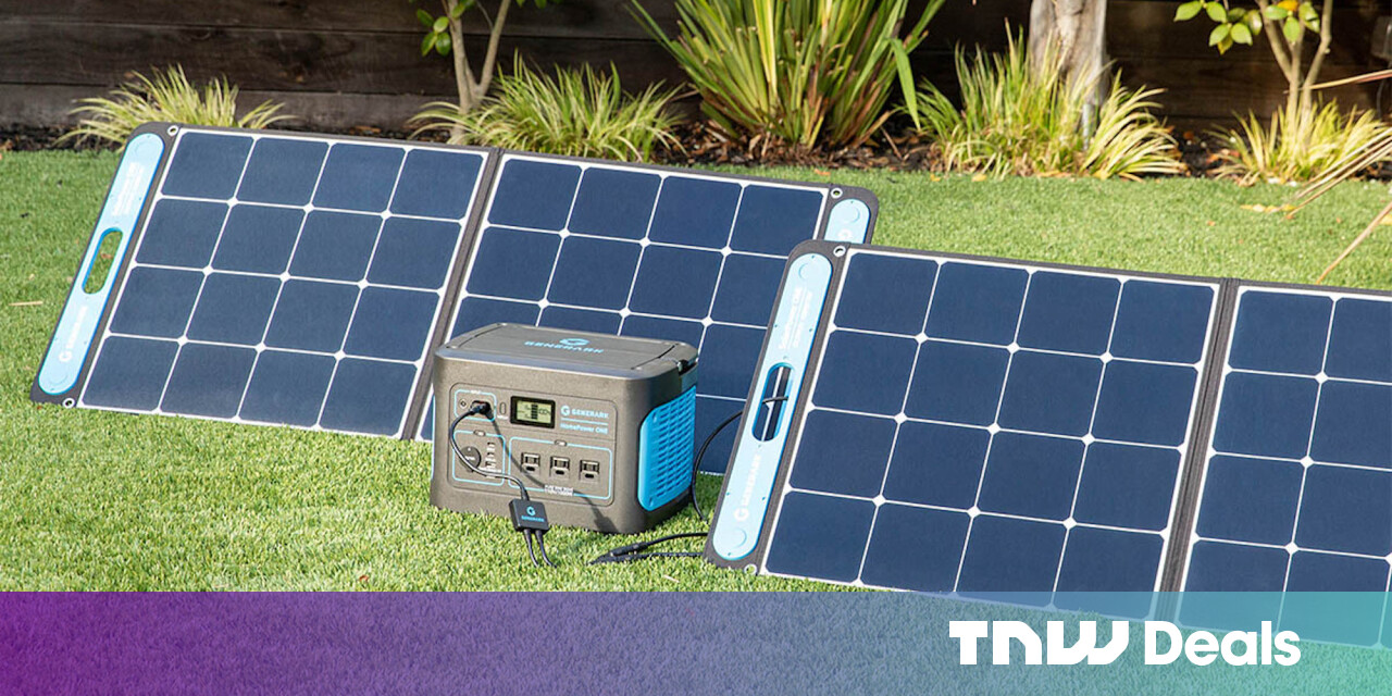 This portable battery station and solar panel are the power backup every homeowner needs at almost $500 off