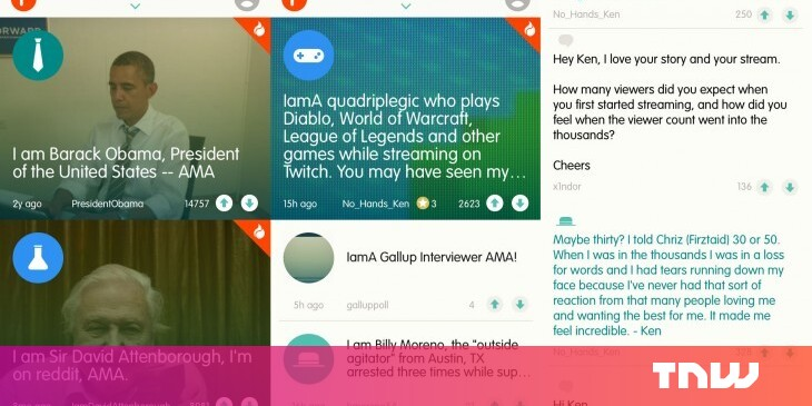 Reddit Now Has an Official 'AMA' App