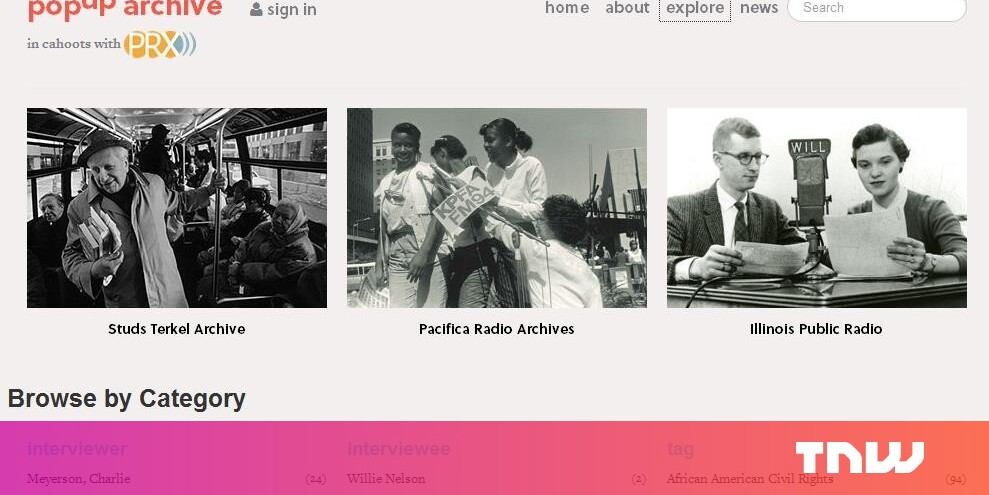 PopUp Archive: Search for Lost Radio Broadcasts