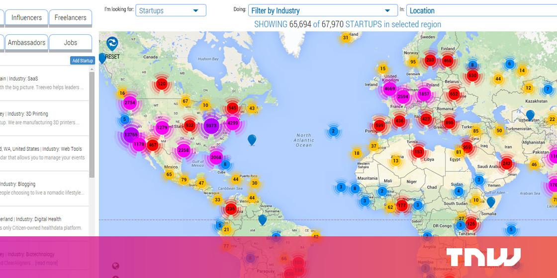 StartupBlink Maps Startups and Accelerators Worldwide