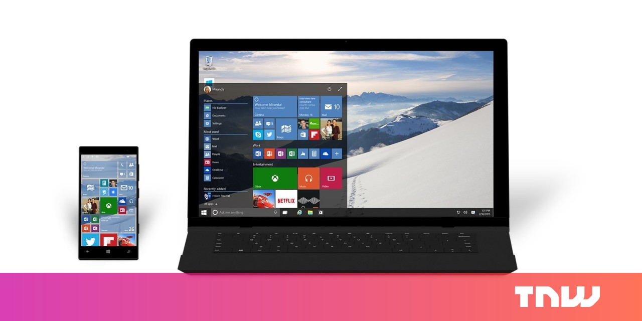 Not everyone will get Windows 10 on July 29