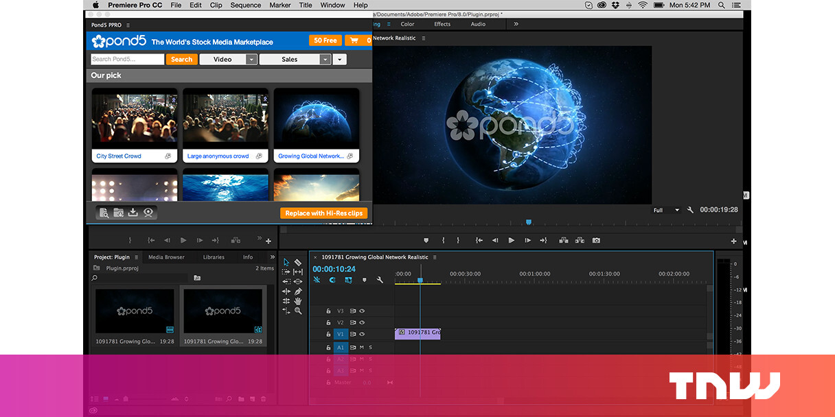 Pond5 launches major update of its video plug-in to Adobe Premiere Pro
