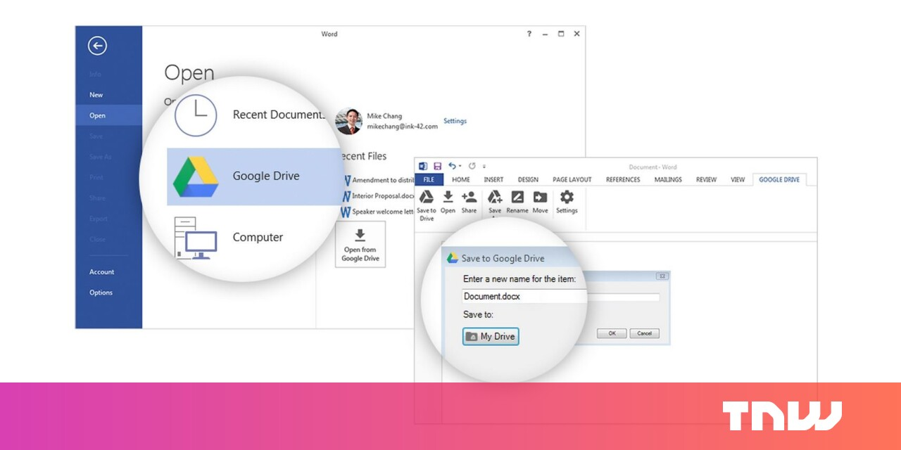 Google created a plugin to let you edit and save Drive files