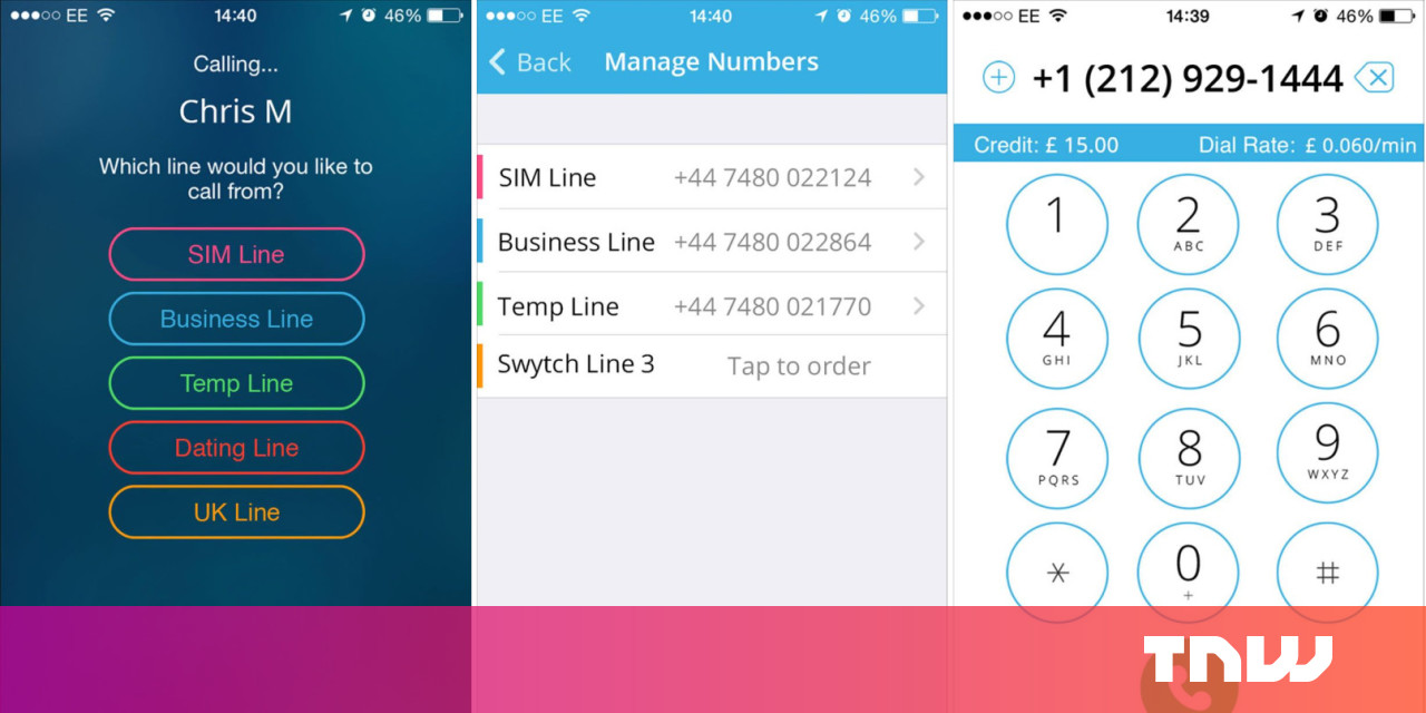 Swytch lets you use up to five 'burner' UK phone numbers from a