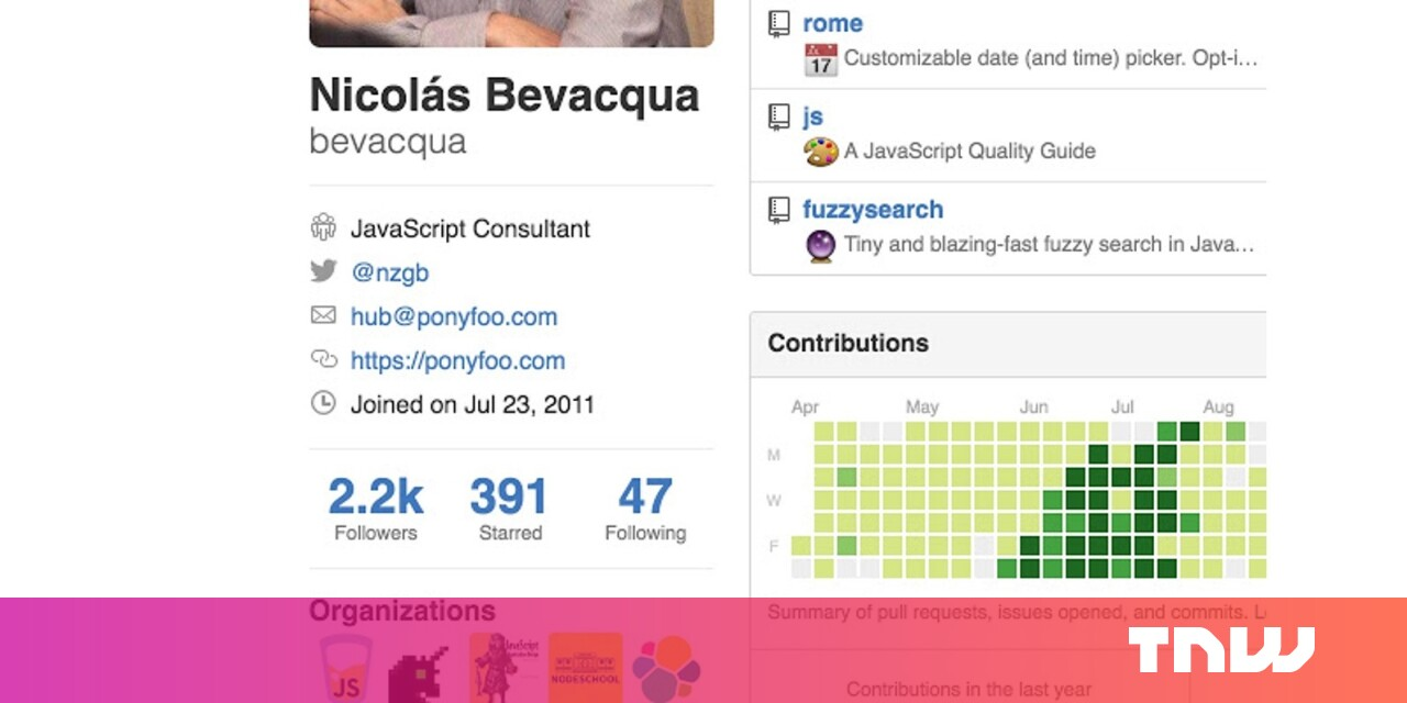 Twitter for GitHub adds your @handle to profiles