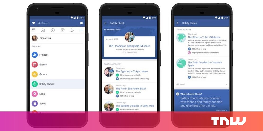 Facebook makes it quicker to check friends are safe when