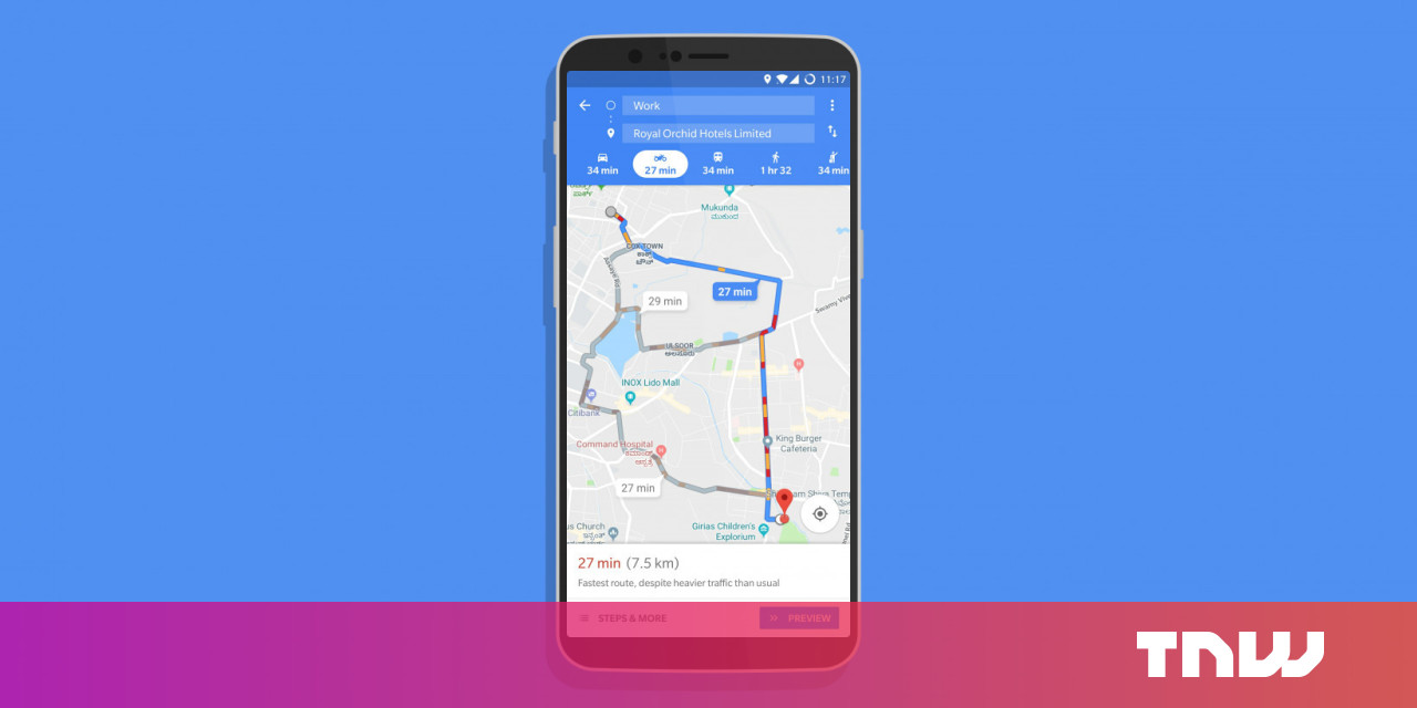 Google Maps' new two-wheeler mode shows fast routes for