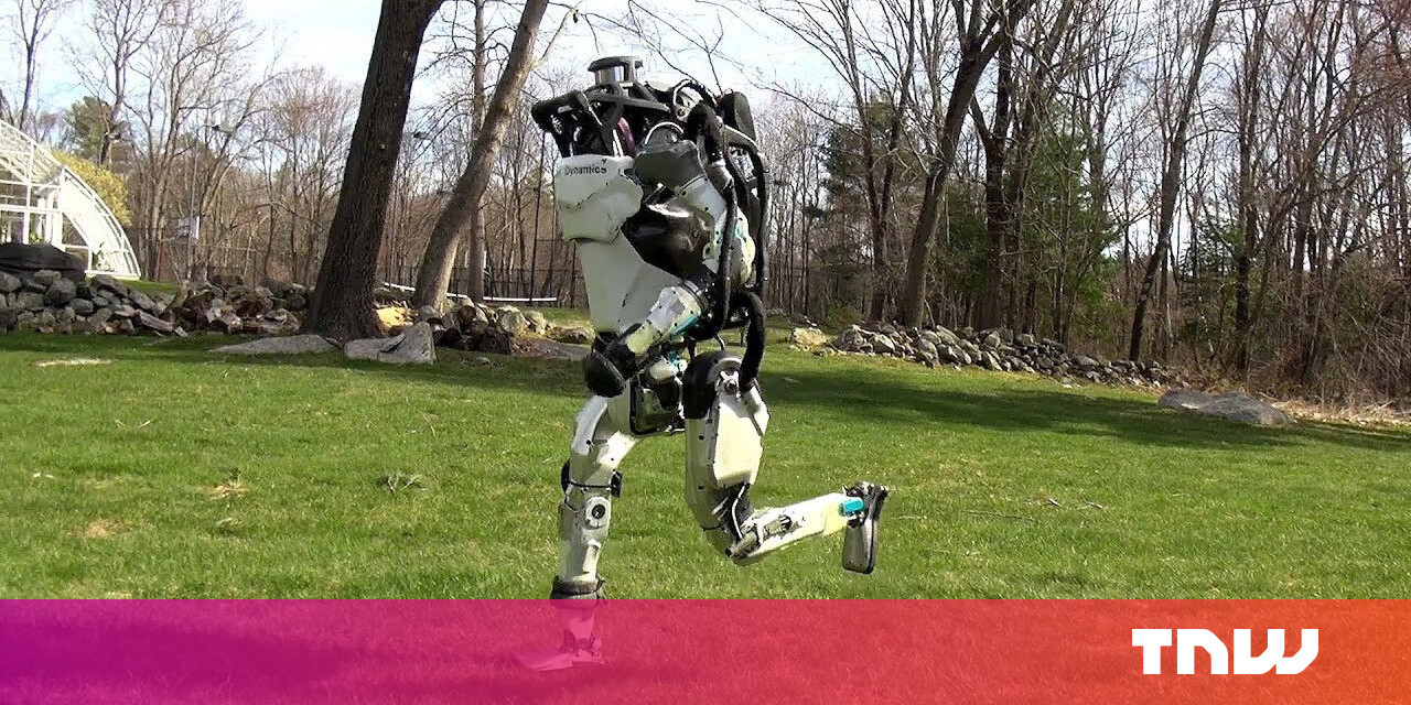 Watch Boston Dynamics' Atlas robot go for a run like it's no big deal