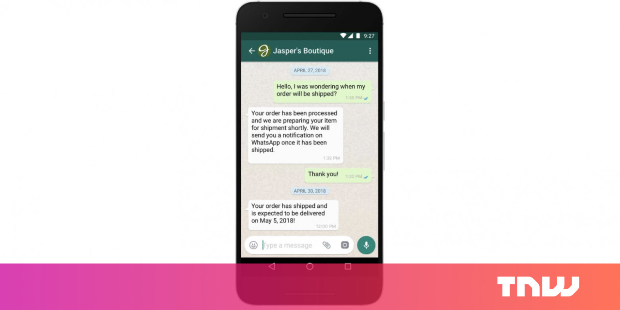 WhatsApp is finally ready to start making money