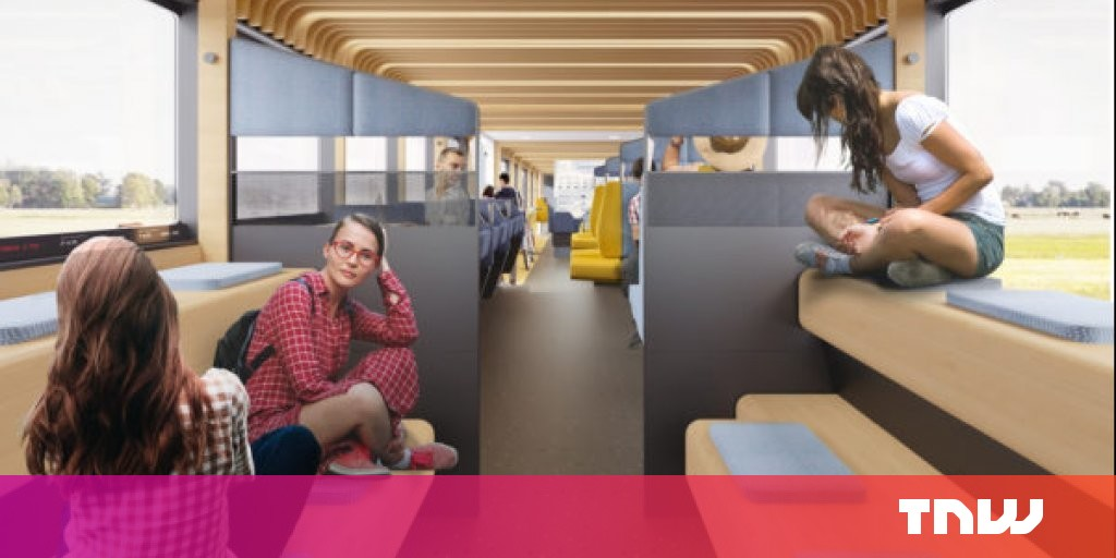 This futuristic Dutch train finally renders your office obsolete