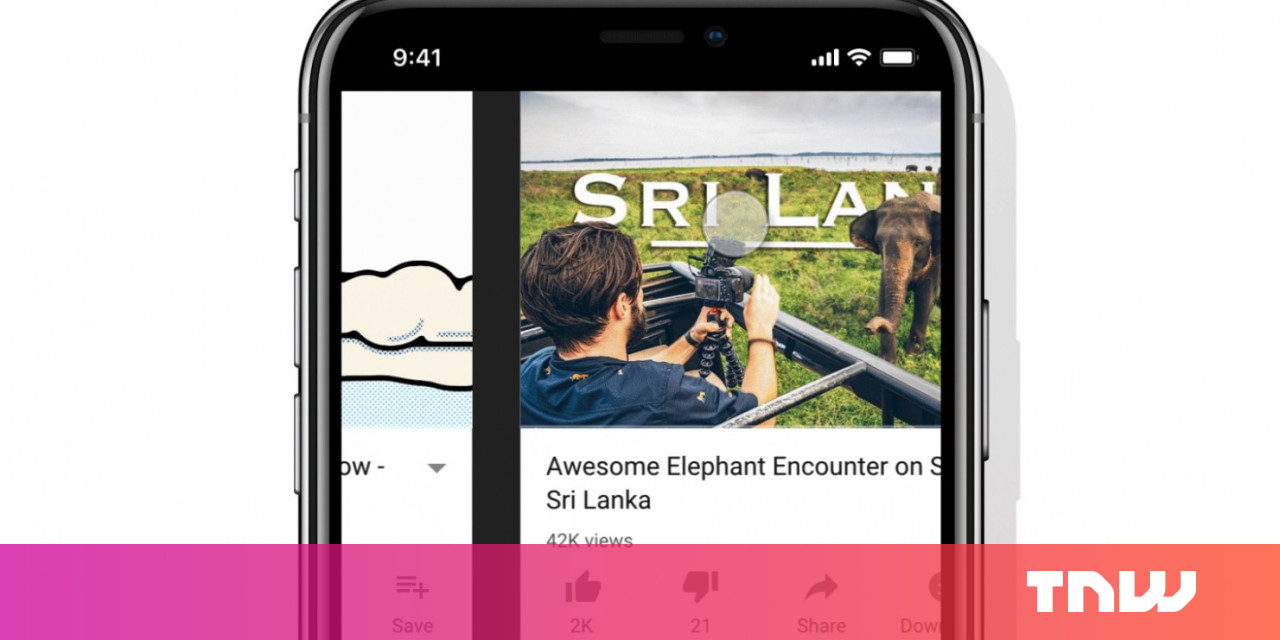 photo image YouTube now lets you swipe through videos like Instagram Stories
