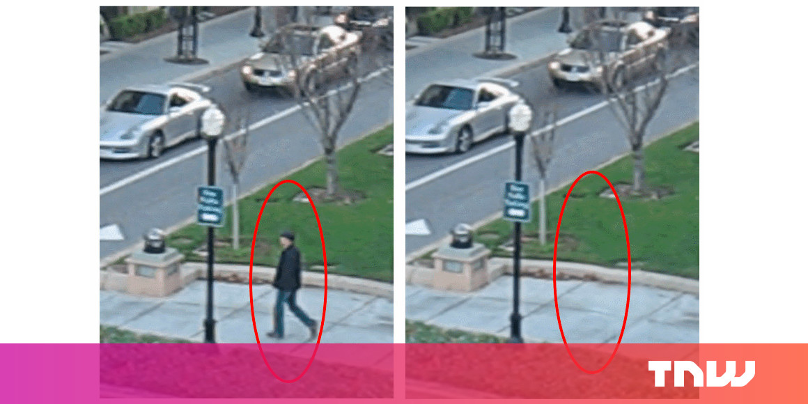 This AI magically removes moving objects from videos