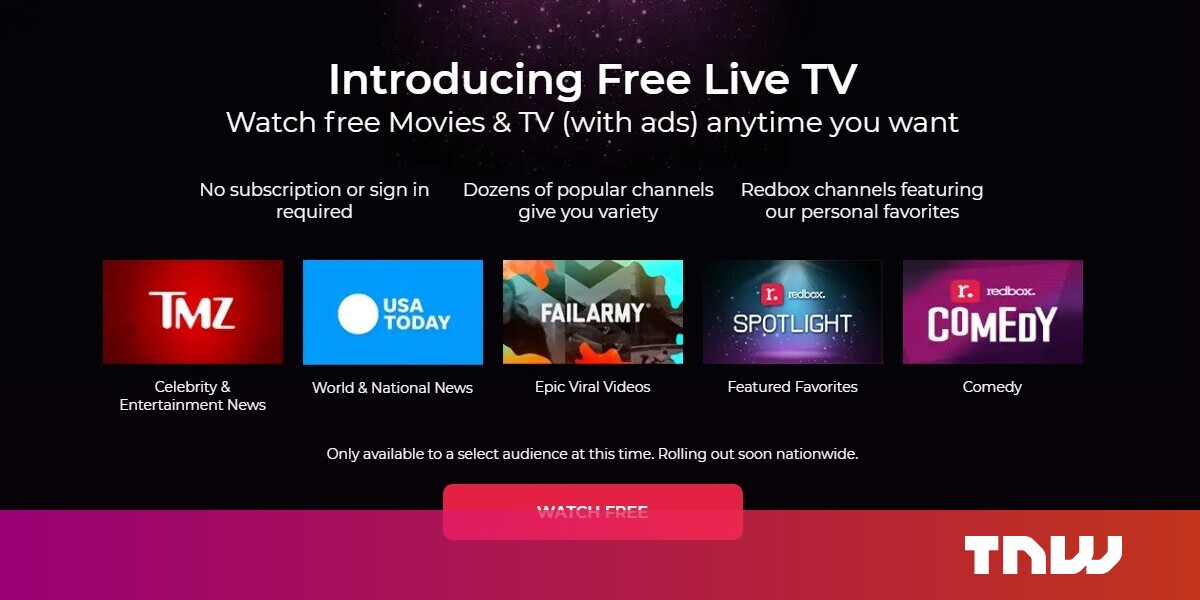 Redbox now offers a free streaming service -- here's how it works