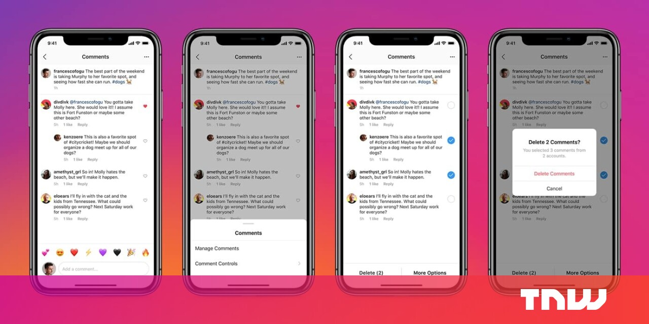 Instagram now makes it easy to delete troll comments in bulk