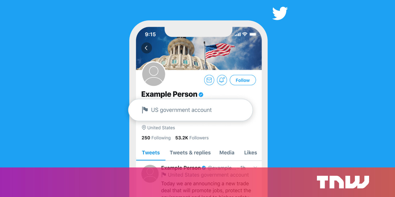 photo of Twitter begins labeling state-affiliated media and government officials image
