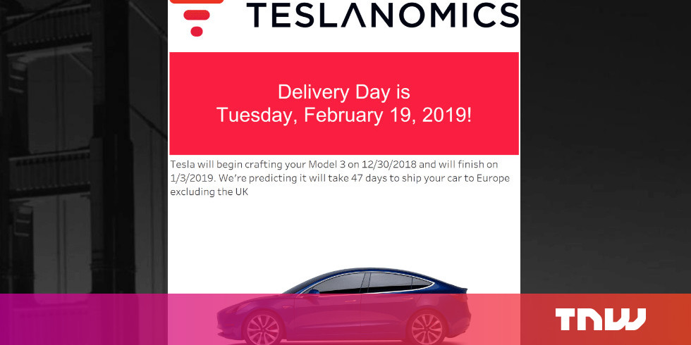 Tesla delivery tool estimates a Model 3 ordered today ...
