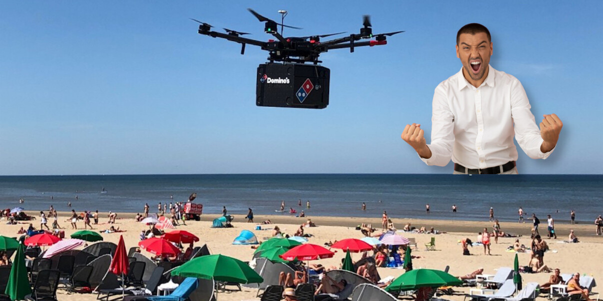 Domino's delivers pizza by drone to Dutch beach — but it was just a trial