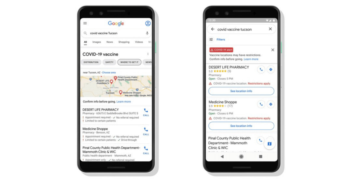 Google Maps is adding COVID19 vaccine sites