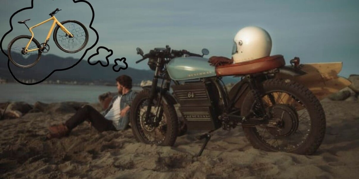 This vintage electric motorcycle is actually… an ebike