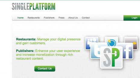 SinglePlatform Sets the Table for Bringing Restaurants Online