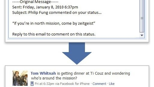 """Facebook Officially Launches """"Reply By Email""""."""