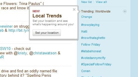 Twitter launches Trends for YOUR Area.
