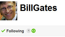 Bill Gates Scorches To 25,000 Followers And 1,000 Lists In Just Four Hours On Twitter