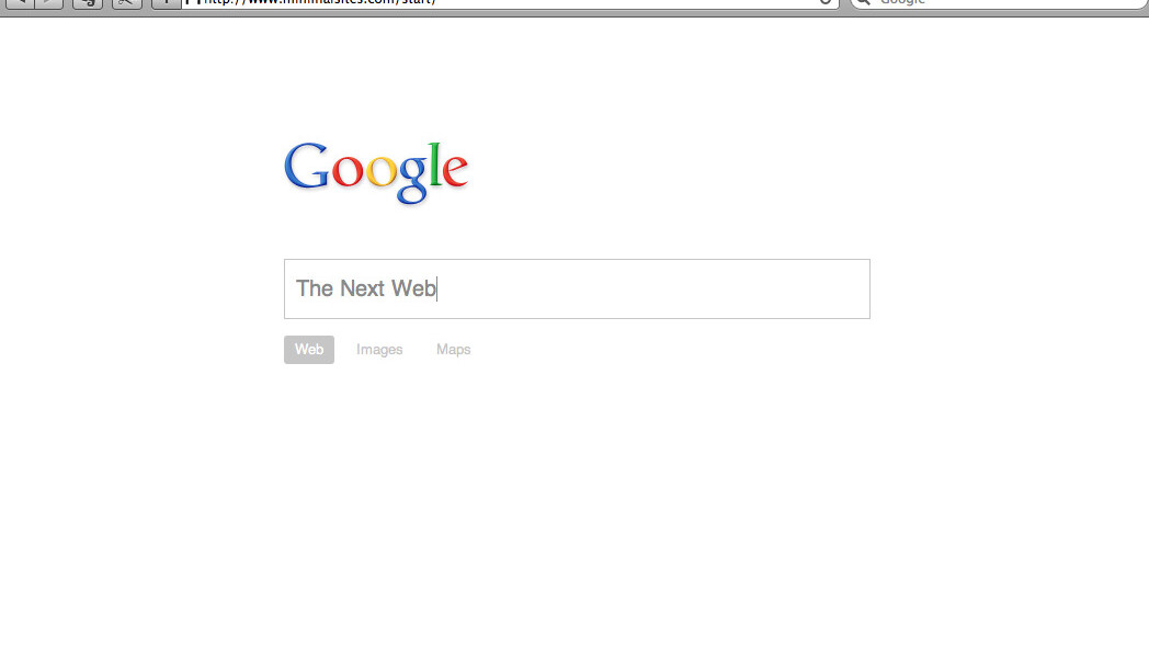 Two Minimalist Versions of Google's Homepage You Probably Haven't Seen Before