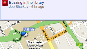 How to browse Google Buzz on a map without a mobile phone
