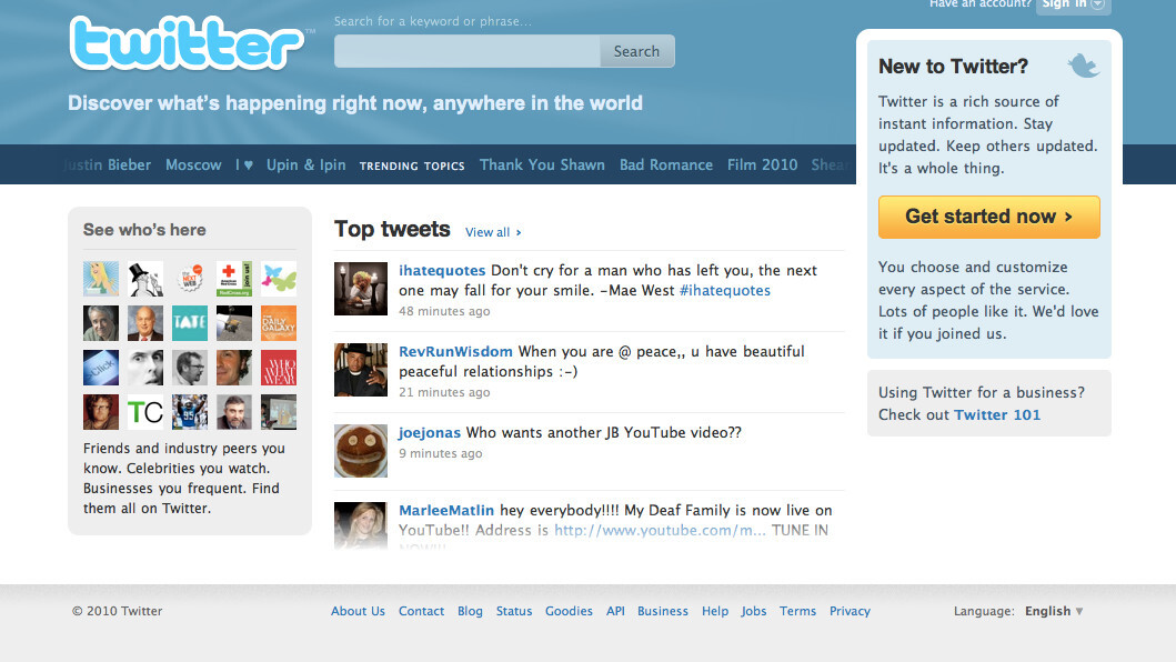 Twitter's Got A Brand New Homepage