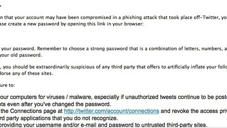 Updated: Twitter forcing some users to change password.