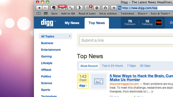 The New Digg And The Future Of Social News
