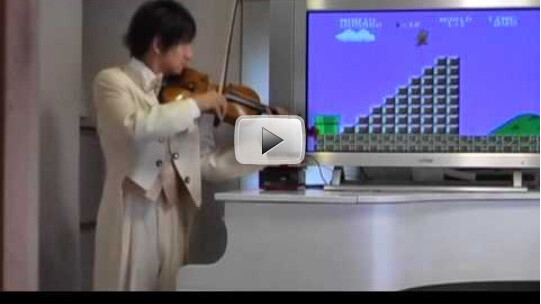 In case you missed it, Super Mario on a Violin