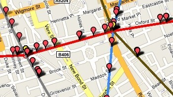 Watch London Tube Trains Mapped in Real Time