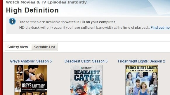 """Netflix Adds HD Category To Its Watch Instantly """"Genres"""""""