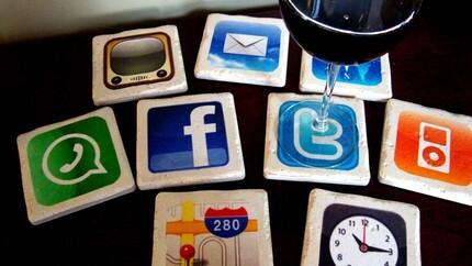 iPhone Apps Coasters In Italian Stone