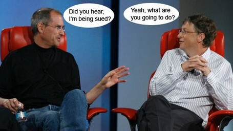"Steve Jobs: ""Did you hear, I'm being sued?"""