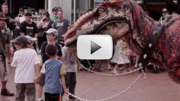 Probably the closest thing to real life dinosaurs you'll ever see…