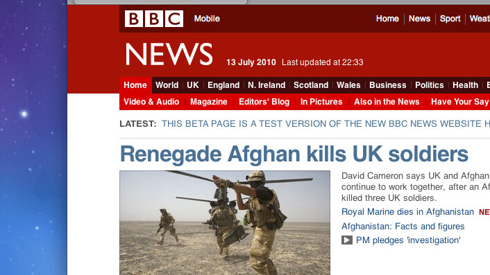 New BBC Website goes live tomorrow but you can see it now.